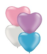 "6"" Heart Latex Balloons (100 Count) Pearl Assortment"