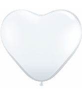 "6"" Heart Latex Balloons (100 Count) Diamond Clear"