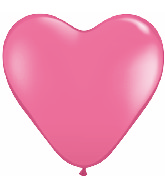 "6"" Heart Latex Balloons (100 Count) Rose"