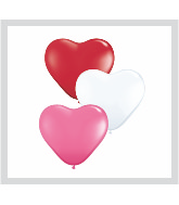 "15"" Heart Latex Balloons (50 Count) Love Assortment"