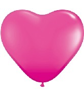 "15"" Heart Latex Balloons (50 Count) Wild Berry"