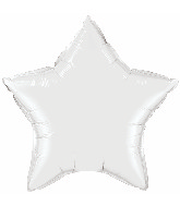 "36"" Star Foil Mylar Balloon White"
