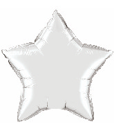 "36"" Qualatex Star Foil Mylar Balloon Silver"