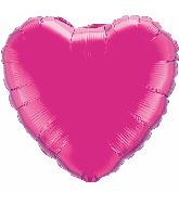 "36"" Heart Foil Mylar Balloon Magenta"
