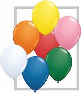"""5""""  Qualatex Latex Balloons  STD ASSORT W/WHT  100CT"""