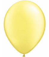 "5""  Qualatex Latex Balloons  Pearl LEMON CHIFFON  100CT"