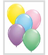 "9""  Qualatex Latex Balloons  PASTEL ASSORT     100CT"