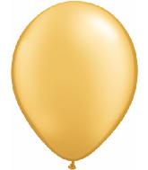 "11"" Qualatex Latex Balloons 25 Per Bag Gold"
