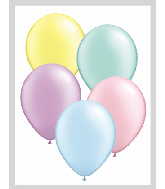 "11""  Qualatex Latex Balloons  PASTEL Pearl ASSORT  100CT"