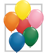 "11""  Qualatex Latex Balloons  STANDARD ASSORT   100CT"