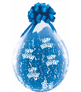 """18"""" Stuffing Balloons Birthday-A-Round Clear (25 Count)"""