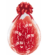 """18"""" Stuffing Balloons I Love You-A-Round Clear (25 Count)"""
