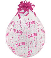 """18"""" Stuffing Balloons It's A Girl-A-Round Clear (25 Count)"""