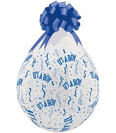"""18"""" Stuffing Balloons It's A Boy-A-Round Clear (25 Count)"""