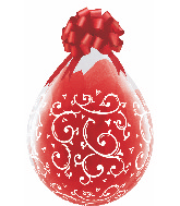 """18"""" Stuffing Balloons Filigree & Hearts Clear (25 Count)"""