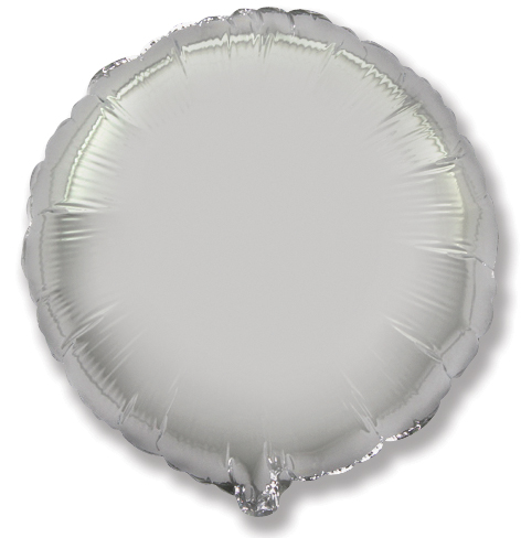 """9"""" Airfill Only Silver Circle"""