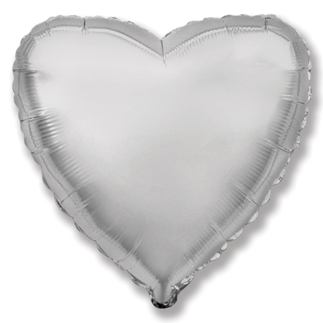 """4"""" Airfill Only Silver Heart"""