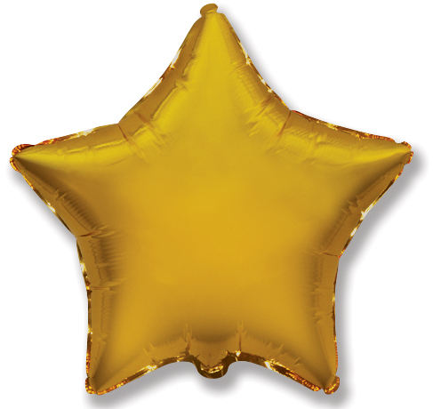 """9"""" Airfill Only Gold Star"""