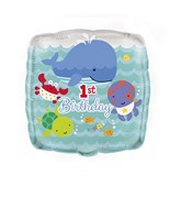 "18"" Under The Sea Pals 1st Birthday Balloon"