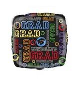 """18"""" Grad Square Foil Balloon"""