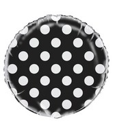 """18"""" Black Polka Dots Balloon"""