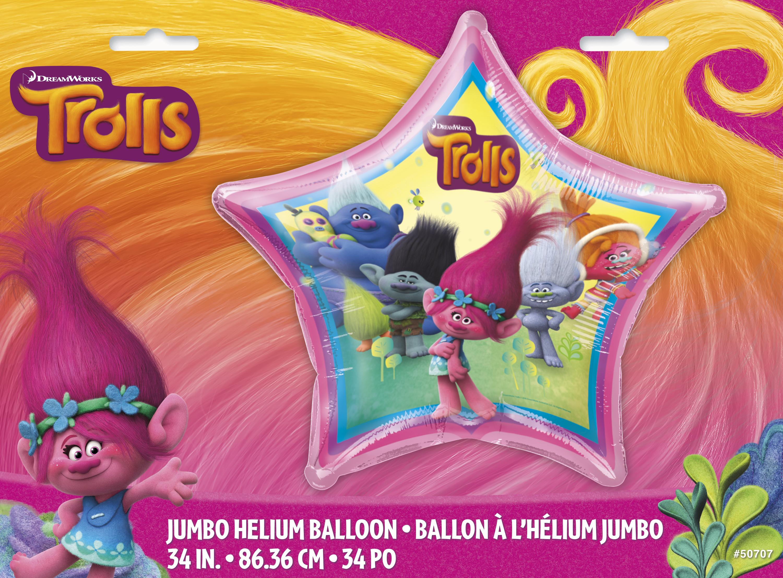 """34"""" Trolls Giant Shaped Foil Balloon"""