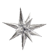 "27.5"" Star-Burst Balloon Silver Airfill Only"