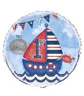 "18"" Foil Balloon Bulk - Nautical 1st Birthday 1st Birthday"