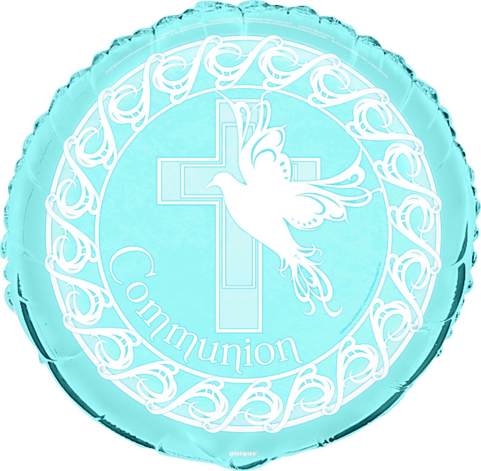 "18"" Dove Cross Blue Communion"