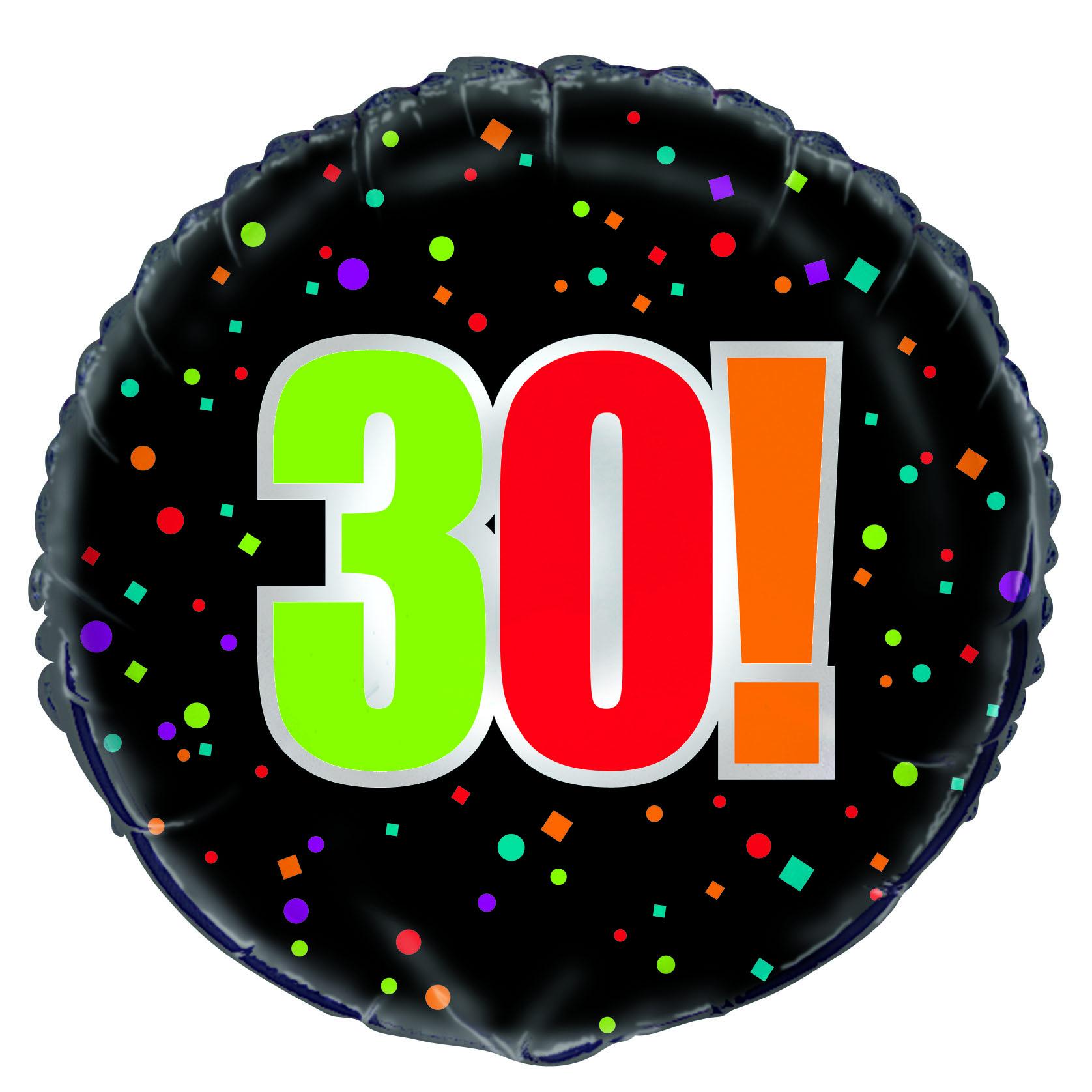 "18"" 30th Birthday Cheer Foil Balloon"