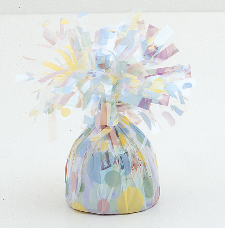 6OZ Polka Dot Foil Wrapped Balloon Weight