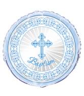 "18"" Packaged Blue Radiant Cross Baptism Balloon"