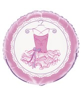 """18"""" Foil Balloon Packaged Pink Ballerina"""