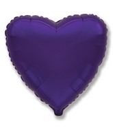 "32"" Metallic Purple Jumbo Heart"