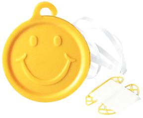 8 Gram Smiley Face Ribbon Weights (100 Pack)