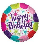 """4"""" Airfill Happy Birthday Border Stars"""