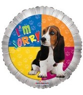 "18""  I'm Sorry Dog Balloon"