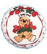 "4"" Airfill I love You Bear Balloon"