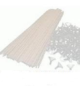 "15"" Small White Cups And Sticks (100 Pack )"