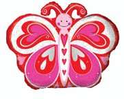 """18"""" Love Butterfly With Hrts"""