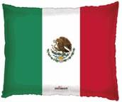 """22"""" Shape Bandera Mexicana Balloon"""
