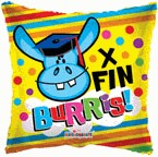 "9"" Airfill Only X Fin Burris! Balloon"
