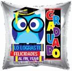 """9"""" Airfill Only Balloon Buho Graduado"""