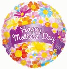 """18"""" Balloon Happy Mother's Day Banner & Flowers"""