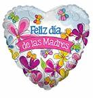 "18"" Balloon Feliz Dia Madres Butterflies"