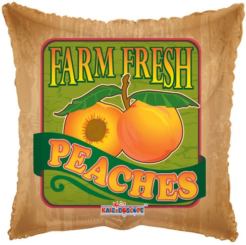 """18"""" Farm Fresh Peaches Fruit Balloon"""