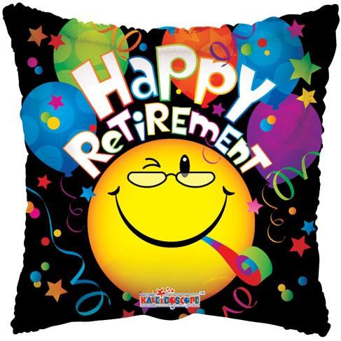 """18"""" Happy Retirement Smiley"""