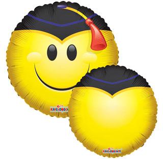 """18"""" Smiley with Grad Cap Balloon"""