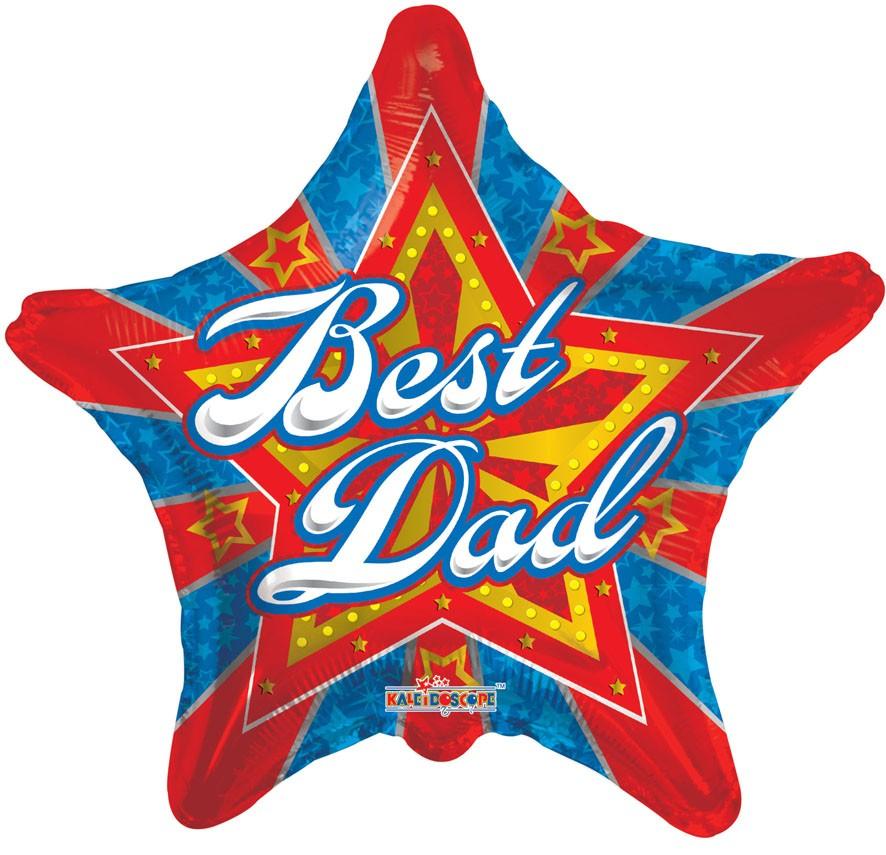 """18"""" BEST DAD STARBURST"""