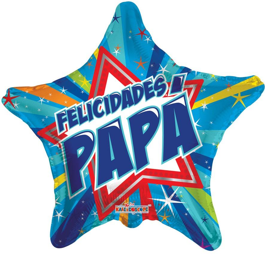 "18"" Shining Star Felicdades Papa Globo"